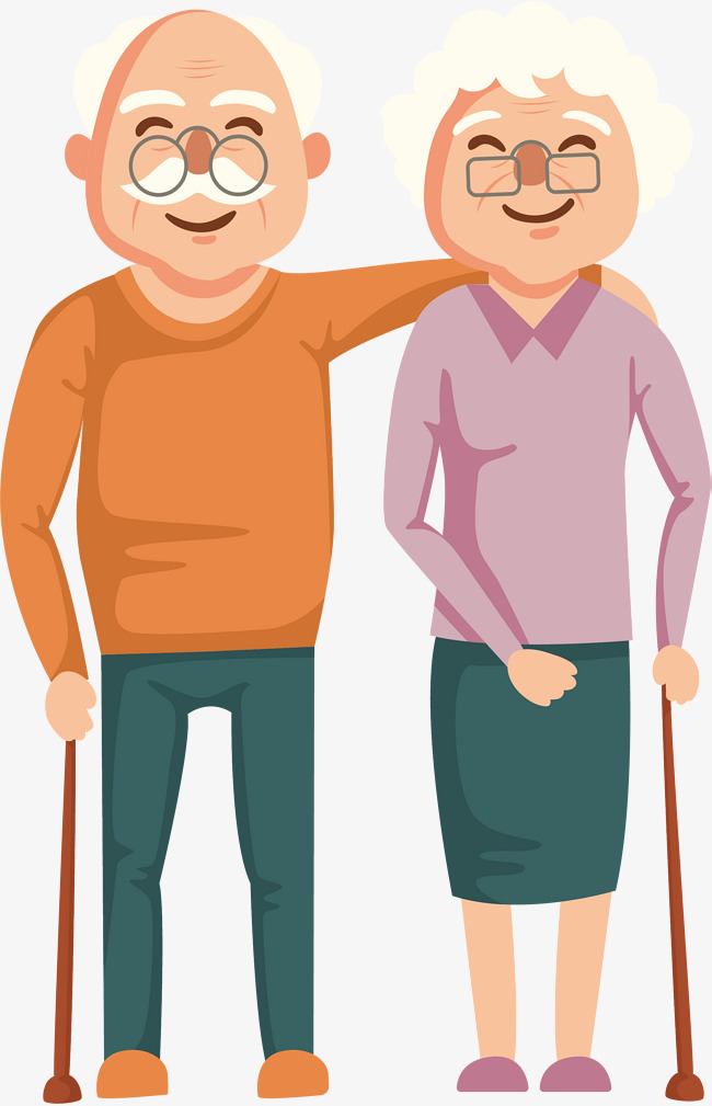 650x1009 A Kindly Two Old Men, Vector Png, Two Old Men, Kindly Png And