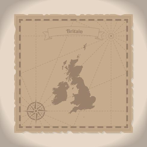 490x490 Great Britain Old Map Illustration