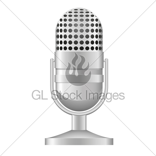 500x500 Old Microphone Vector Illustration Gl Stock Images