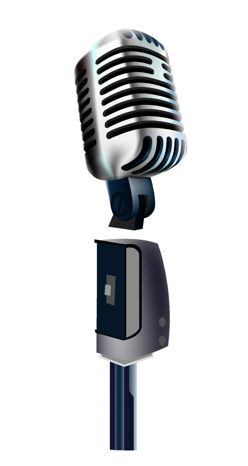 853x1600 Old Microphone Free Vector 4vector