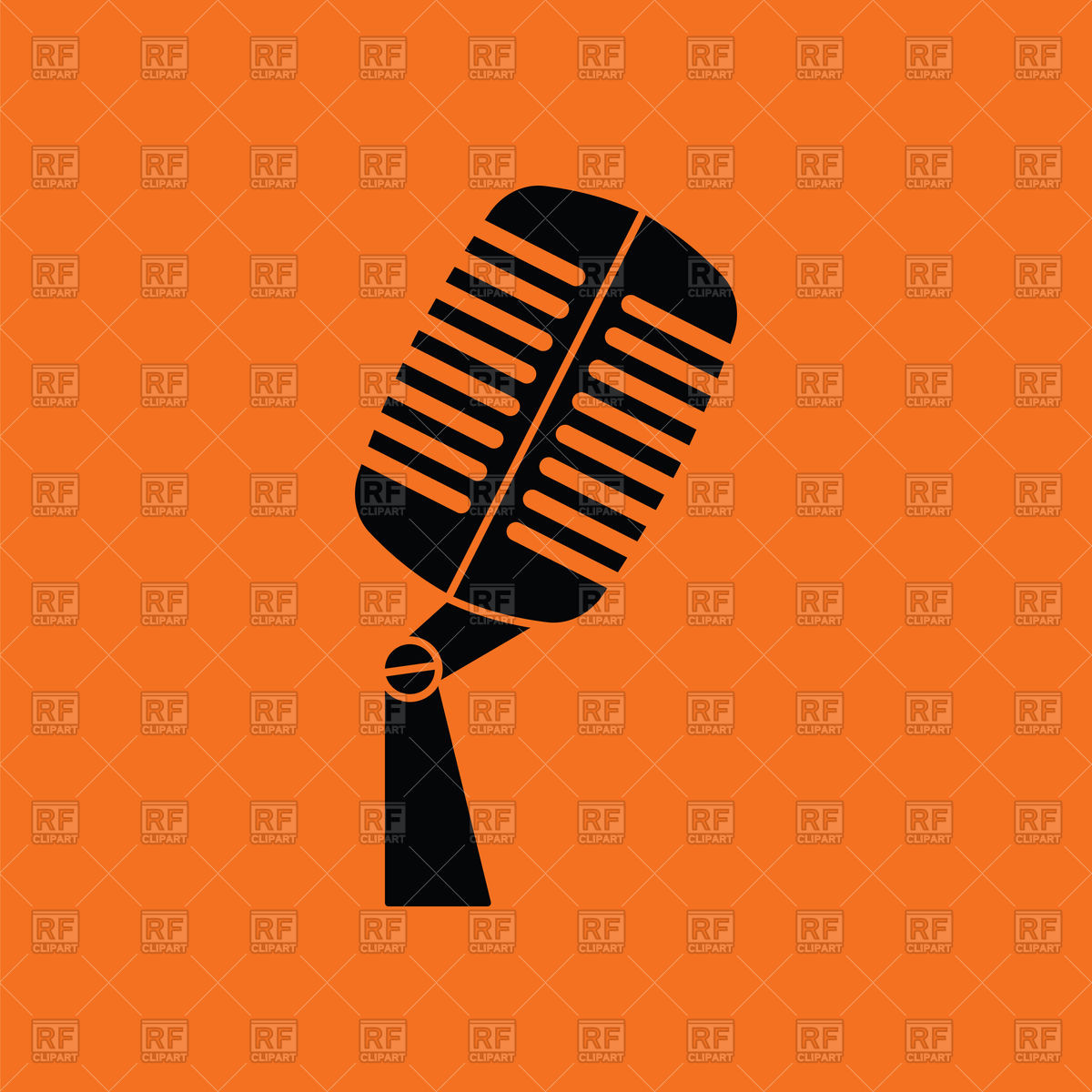 1200x1200 Retro And Modern Microphones Vector Image Vector Artwork Of