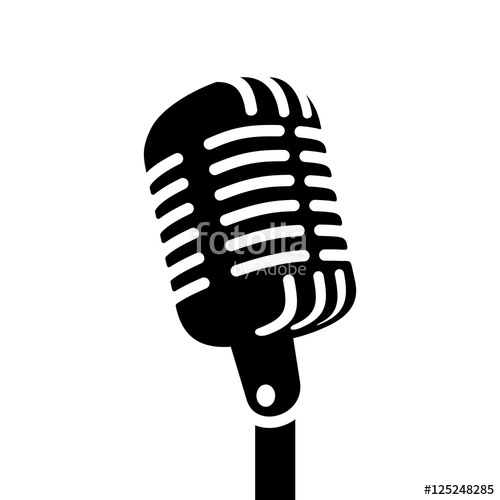 500x500 Retro Microphone Vector Sign Stock Image And Royalty Free Vector