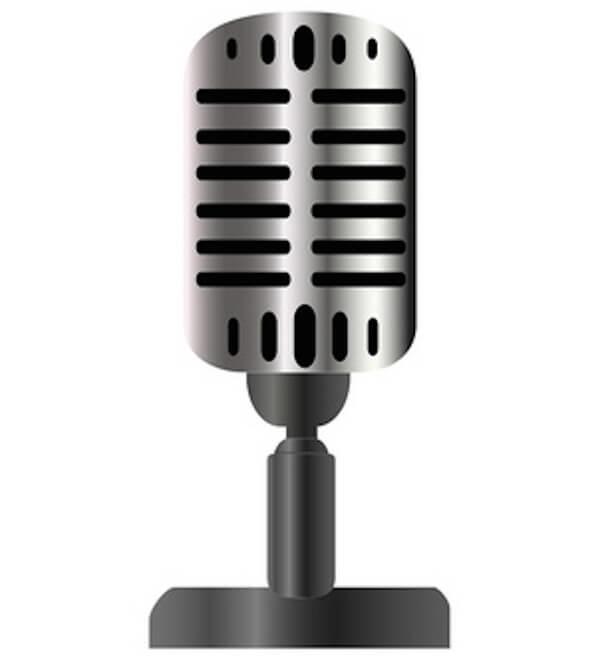 600x660 Vintage Microphone Vector Image 123freevectors