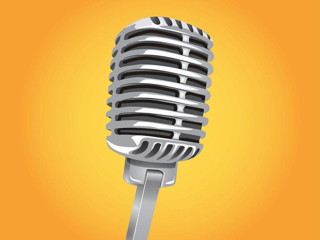 1024x769 Classic Microphone Vector Vector Art Amp Graphics