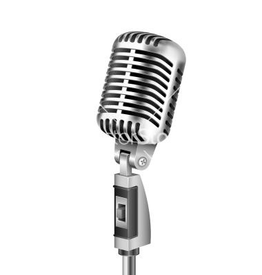 380x400 Vintage Microphone Vector Clipart Panda