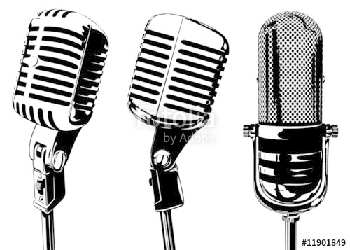 500x357 Old Microphone Stock Image And Royalty Free Vector Files On