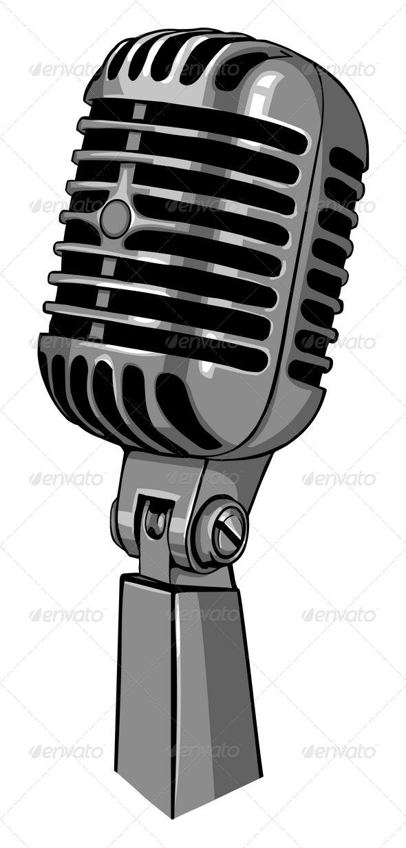 590x1231 Drawn Microphone Vector