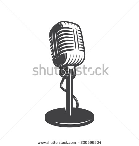 450x470 Free Microphone Vector Old Microphone Icon Royalty Free Vector