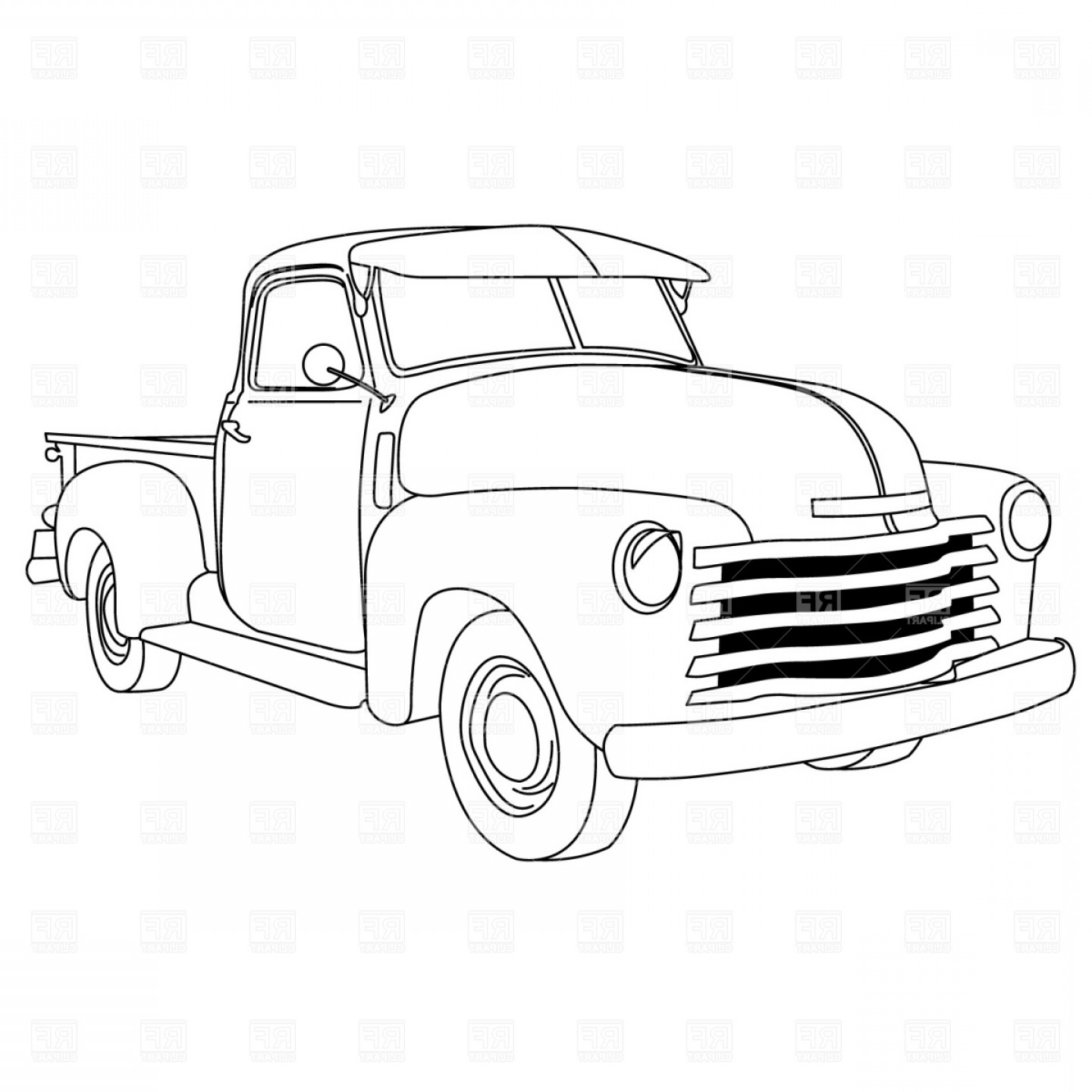 old truck vector at getdrawings free for personal use old Old Ford F-250 1440x1440 old american pick up truck vector clipart orangiausa