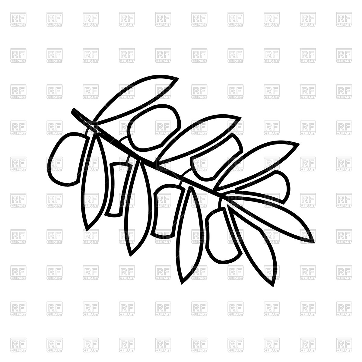 1200x1200 Olive Branch Outline Vector Image Vector Artwork Of Objects