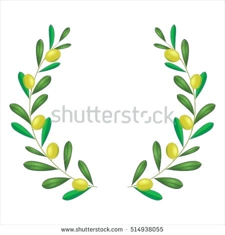 450x470 Olive Branch Wreath Vector Green Olive Branches Wreath Vector Home