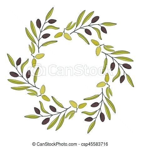 450x470 Olive Wreath Clip Art Olive Laurel Wreath Vector Set Free Olive