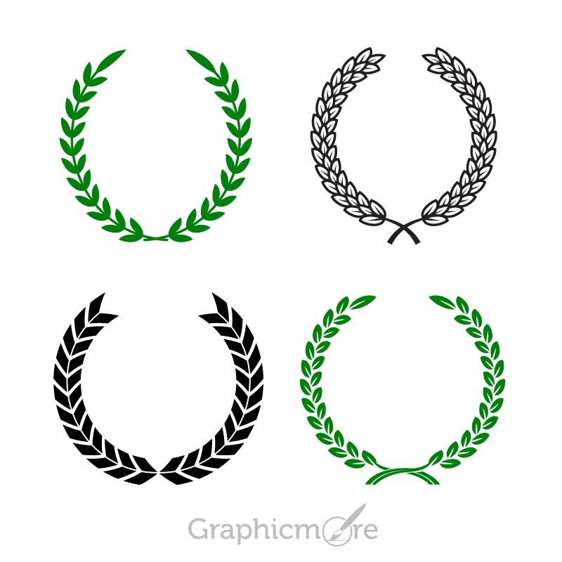 800x800 Olive Wreath Shapes Design Free Vector File Download