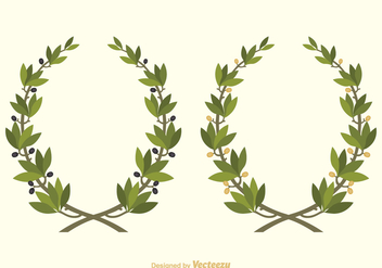 352x247 Olive Wreath Vector Set Free Vector Download 356357 Cannypic