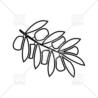 400x400 Olive Branch Outline Vector Image Vector Artwork Of Objects