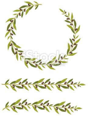 289x380 Olive Branch Wreath And Olive Branches. At The Olympic Games