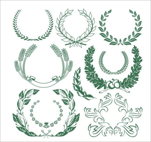 600x563 Wheat,olive Branch,trademarks Vector Vectors Download Crazy Free