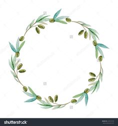 236x251 Collection Of Olive Branch Wreath Drawing High Quality, Free