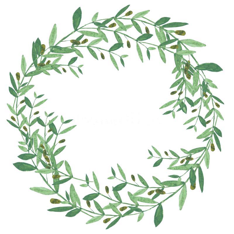 800x800 Olive Wreath Vector Psd Headband Free