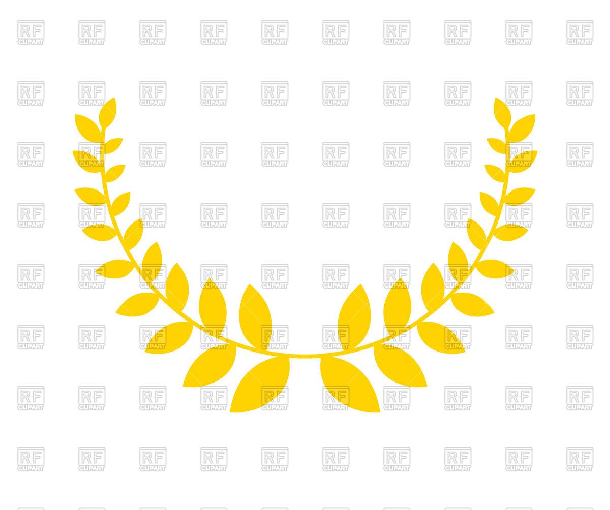 1200x1004 Olive Branch Is Golden Wreath Vector Image Vector Artwork Of
