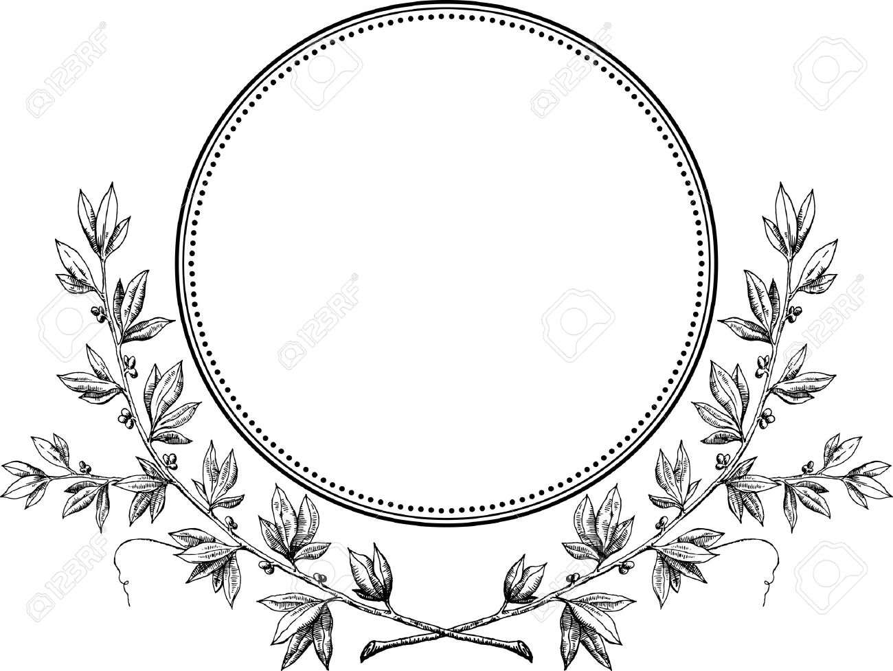 1300x977 Collection Of Wreath Clipart Vector High Quality, Free