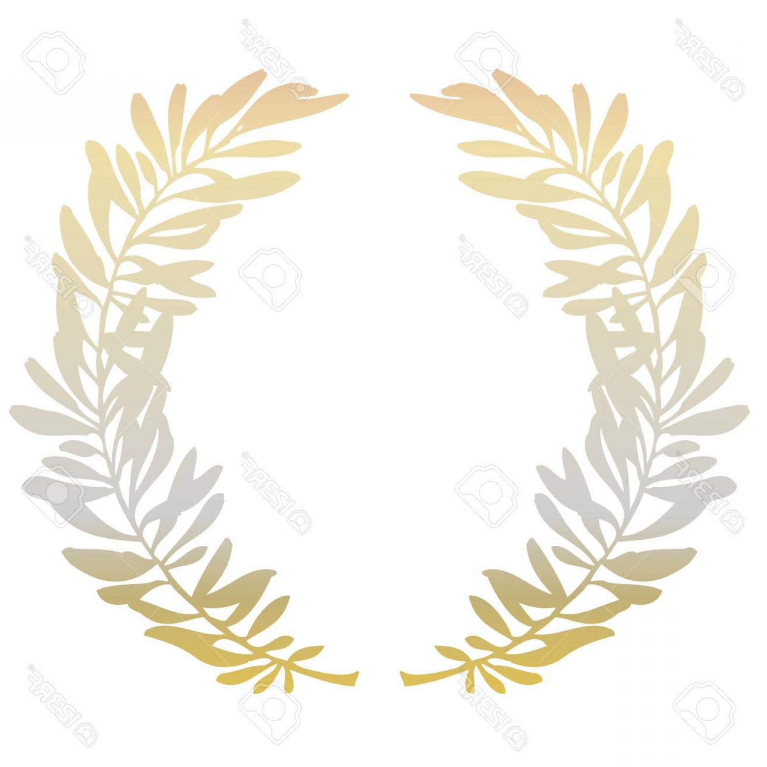 1560x1560 Photostock Vector Golden Olive Branches Or Laurel Wreath On White