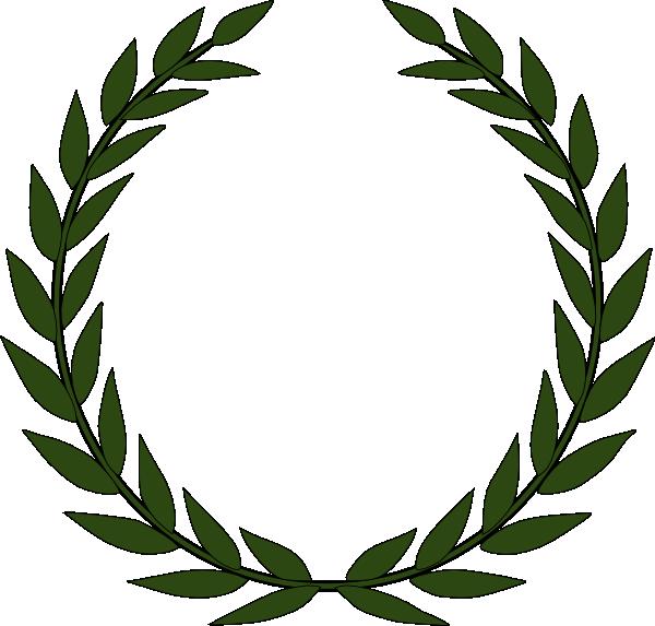 600x573 Akiko Olive Wreath Clip Art