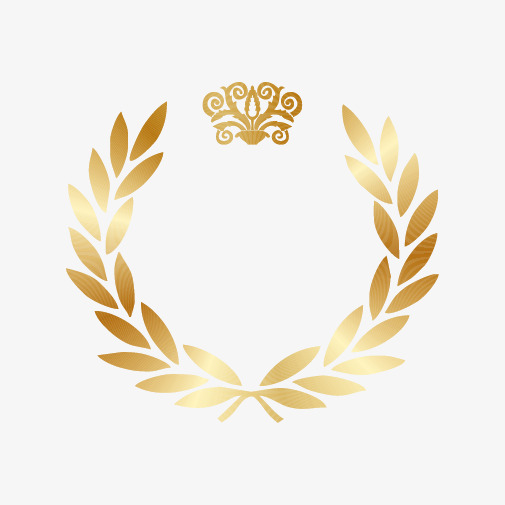 505x505 Gold Laurel Wreath Gold, Golden, Wreath, Olive Branch Png And