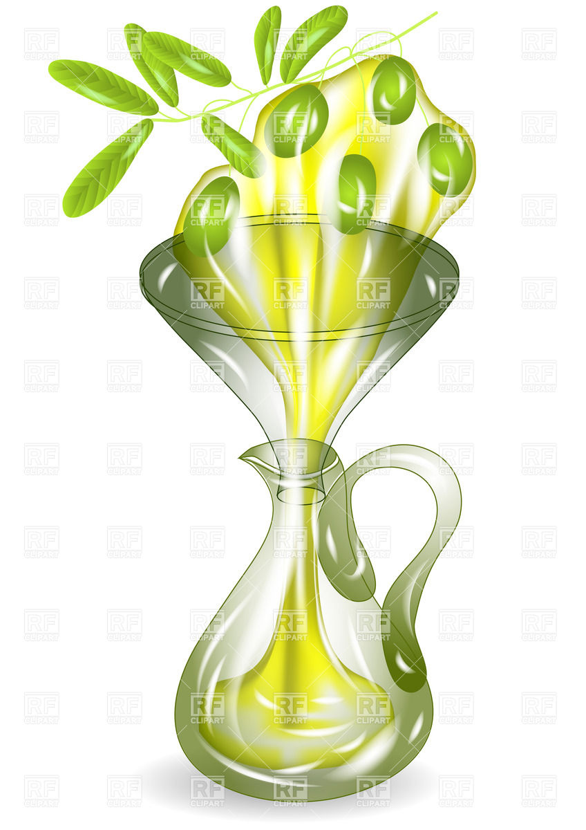 848x1200 Olive Branch And Jug Of Olive Oil Vector Image Vector Artwork Of