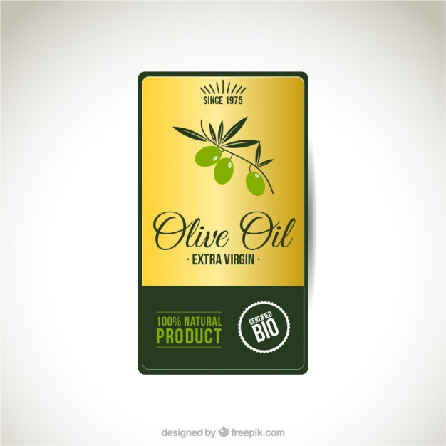 626x626 Olive Oil Label Vector Free Download