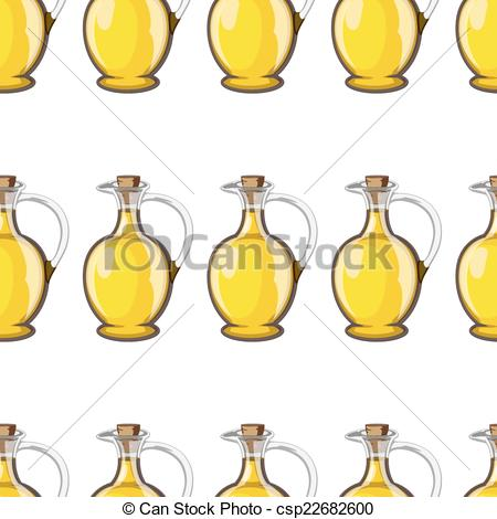 450x470 A Bottle Of Olive Oil With Seamless Vector Pattern.