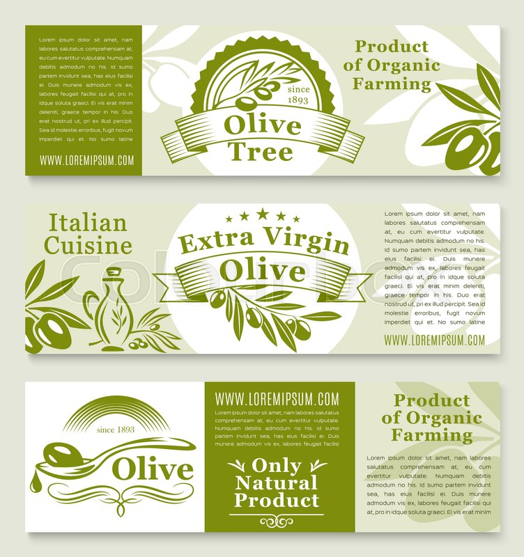 752x800 Olive Oil Product Banners Templates. Fresh Green Olive Fruits