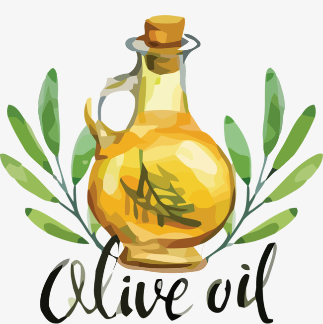 650x651 Vector Creative Hand Painted Bottle Of Olive Oil, Bottle Vector