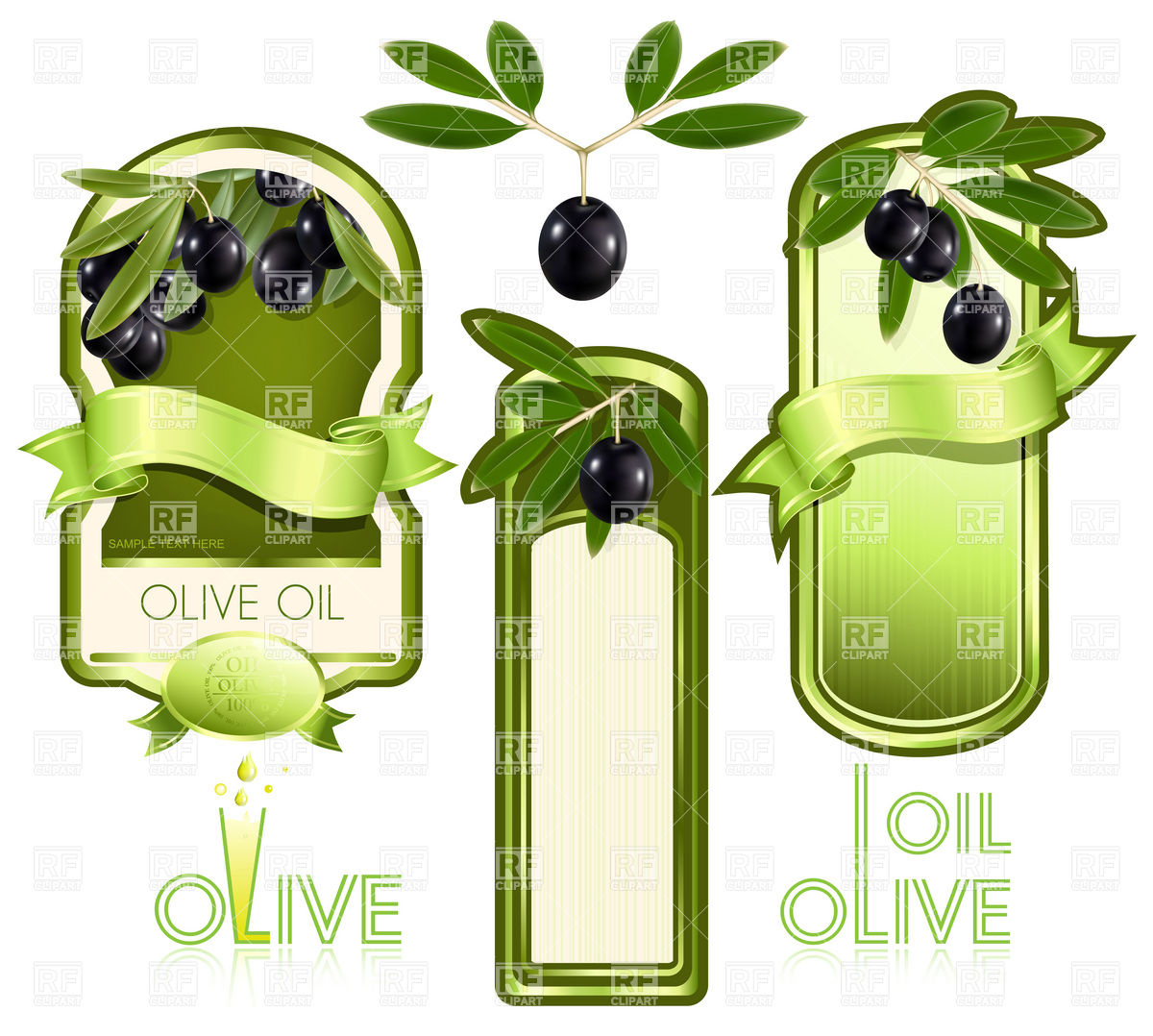 1200x1078 Blank Template Of Label For Olive Oil Vector Image Vector