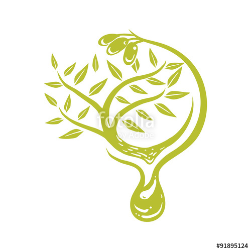 500x500 Herb Olive Oil Vector Logo Template Stock Image And Royalty Free