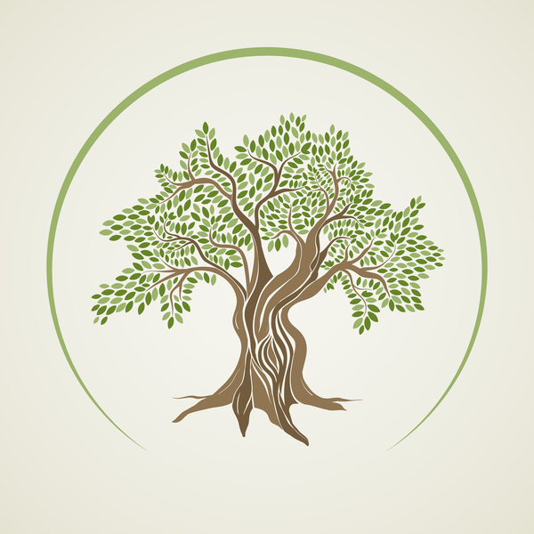 600x600 Olive Tree Vector Background Free Download