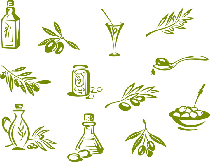 720x554 Olive Elements Free Vector Graphic Download