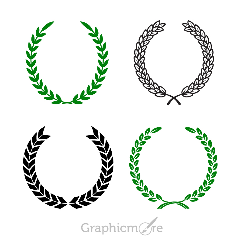 800x800 Olive Wreath Shapes Design Free Vector File Download