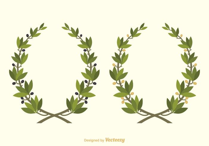 700x490 Vector Olive Wreath