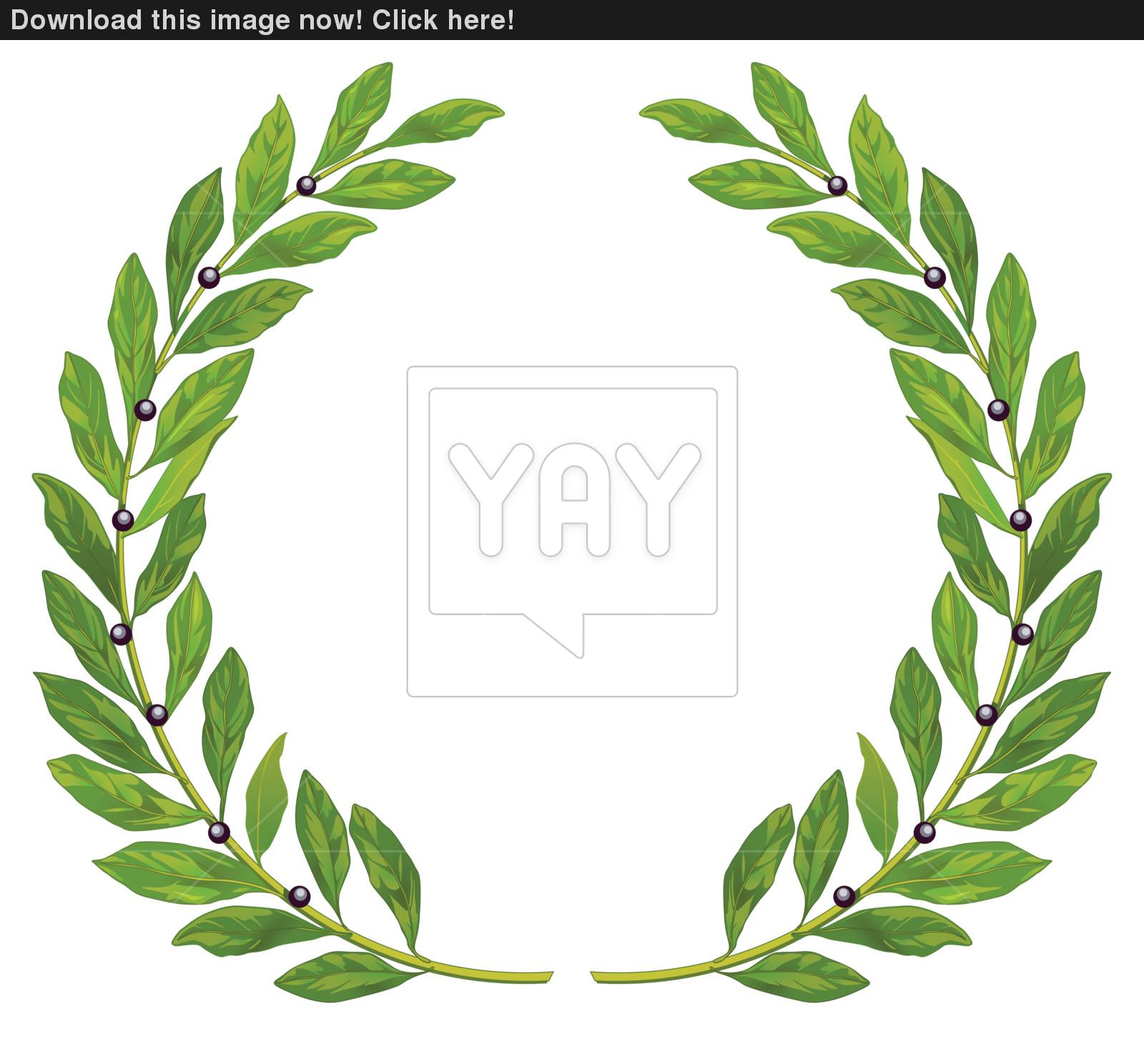 1600x1488 Laurel Wreath And Laurel Vector