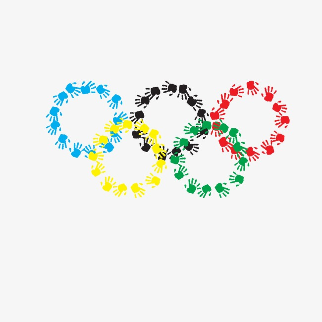 650x650 The Olympic Rings, Vector Olympic Rings, Olympic, Handprint Png