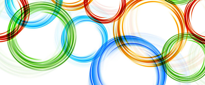 800x333 Olympic Color Ring Vector Background, Olympic, Rings, Color Ring