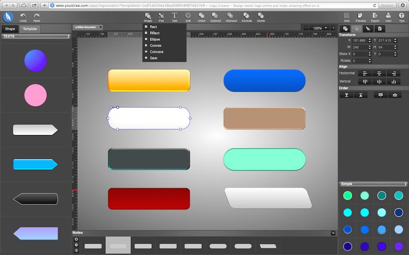 800x500 Online Logo Maker Vector Design Youidraw Creator Great Shape Ideal