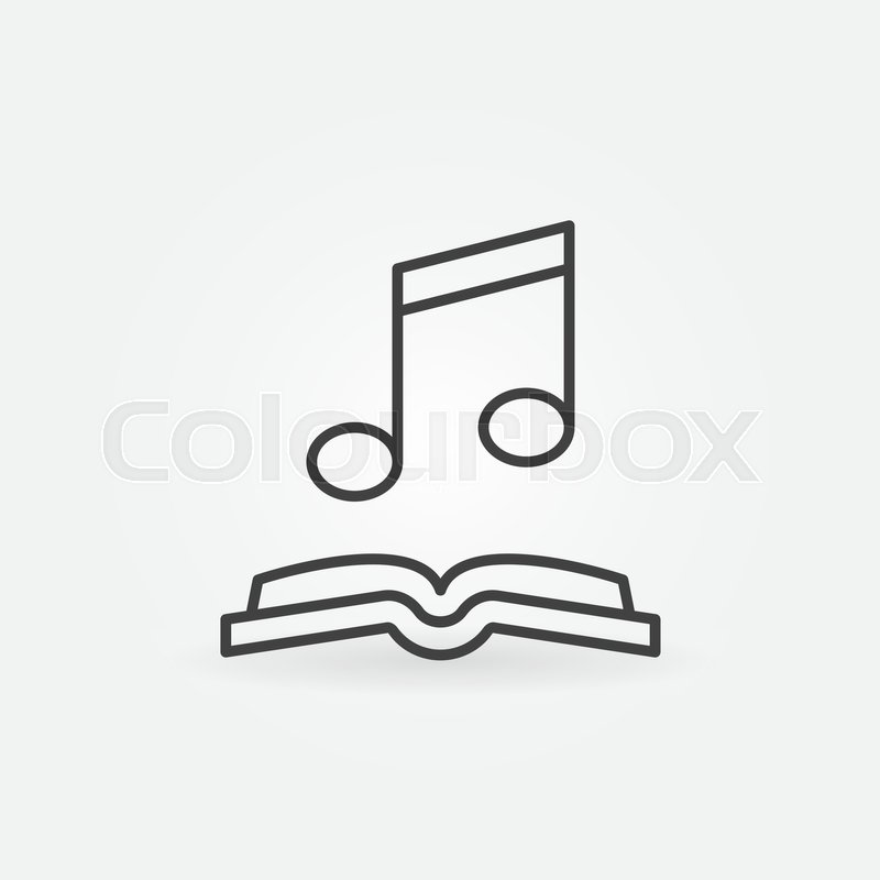 800x800 Musical Note With Open Book Icon. Vector Audio Book Concept