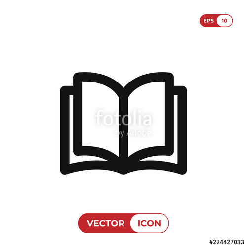500x500 Open Book Icon Vector Illustration Stock Image And Royalty Free