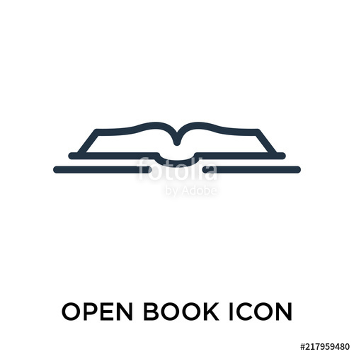 500x500 Open Book Icon Vector Isolated On White Background, Open Book Sign