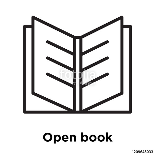 500x500 Open Book Icon Vector Sign And Symbol Isolated On White Background