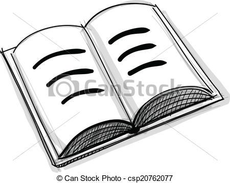 450x358 Open Book Icon. Open Book, Notebook, Organizer. Sketch Icon