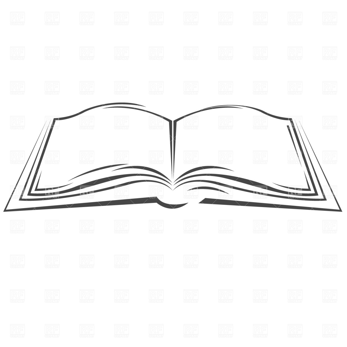 1200x1200 Symbolic Open Book Vector Image Vector Artwork Of Objects
