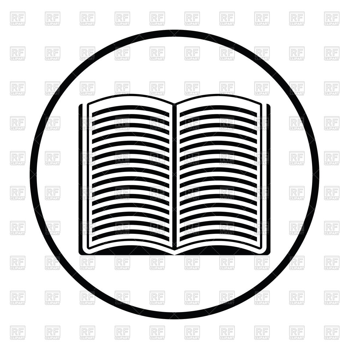 1200x1200 Thin Circle Design Of Open Book Icon Vector Image Vector Artwork